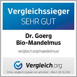 Vergleichssieger Sehr Gut Dr. Goerg Bio-Mandelmus