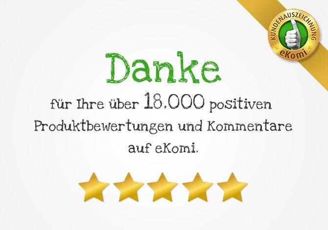 18.000 positive Bewertungen