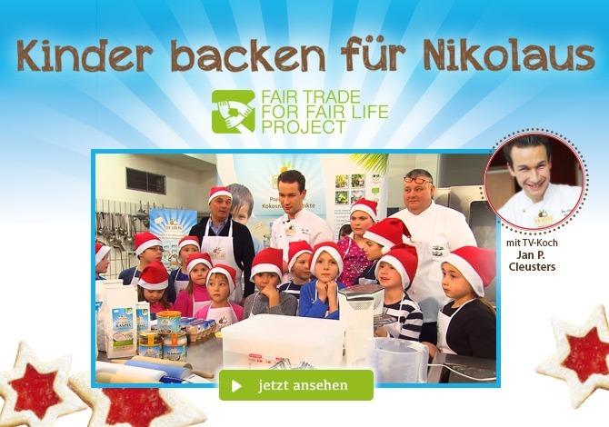 Kinder backen für Nikolaus - Video
