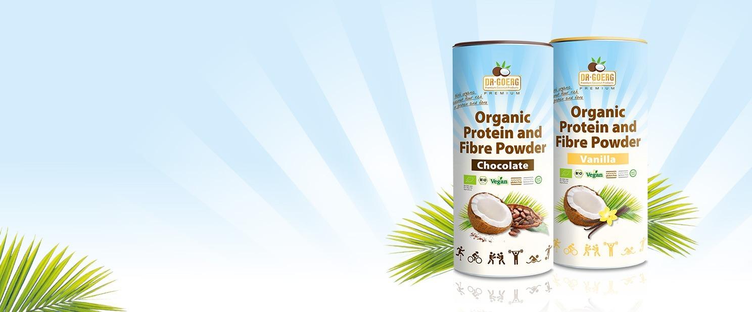 Proteína orgánica en polvo