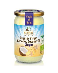Huile de coco bio aux épices de qualité supérieure 190ml, au gingembre