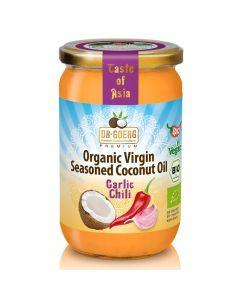 Huile de coco bio aux épices de qualité supérieure 190ml, à l'ail et au piment