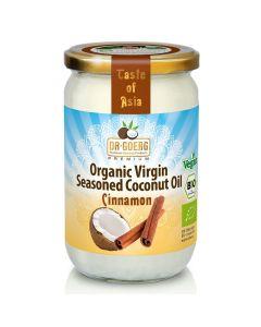 Aromatyzowany olej kokosowy Premium BIO 190 ml, cynamon