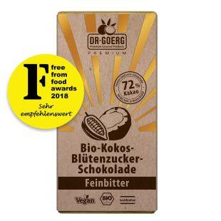 Premium Bio-Kokosblütenzucker-Schokolade, Feinbitter 40 g