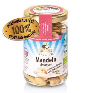 Weiße, süße Premium Bio-Mandeln 110 g (ganze Nüsse)