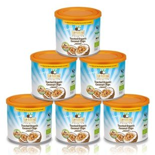 5 x Premium Coconut Chips, 125 g can + 1 Free