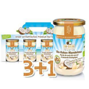 Bio-Kokos-Mandelmus Sparpaket 3+1