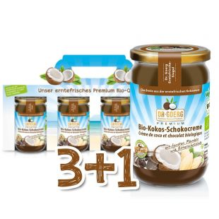 Bio-Kokos-Schokocreme Sparpaket 3+1