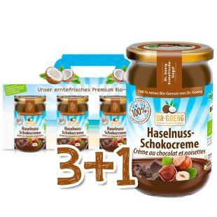 Premium Bio-Haselnuss-Schokocreme Sparpaket 3+1