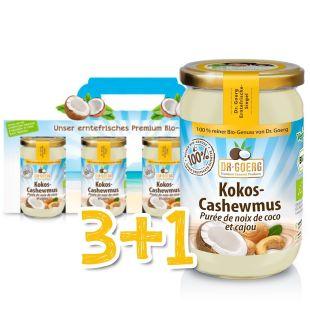 Bio-Kokos-Cashewmus Sparpaket 3+1