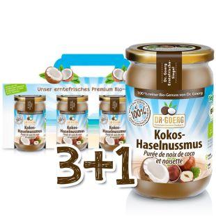 Bio-Kokos-Haselnussmus Sparpaket 3+1