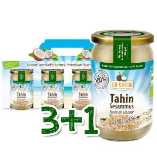 Premium Bio-Tahin-Sesammus Sparpaket 3+1