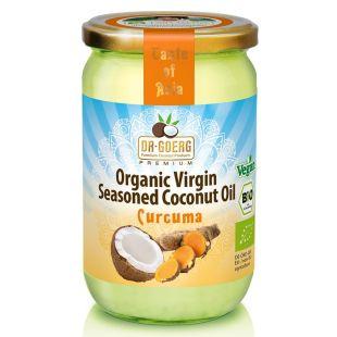 Olio di Cocco Bio Premium Aromatizzato 190 ml, curcuma