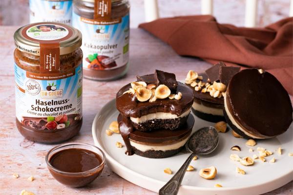 Vegan Choco-Nut Cups ohne Backen