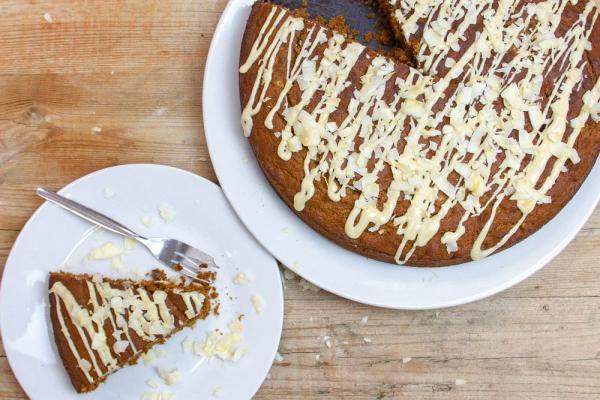 Schoko-Bananen-Kuchen mit Kokosblütenzucker