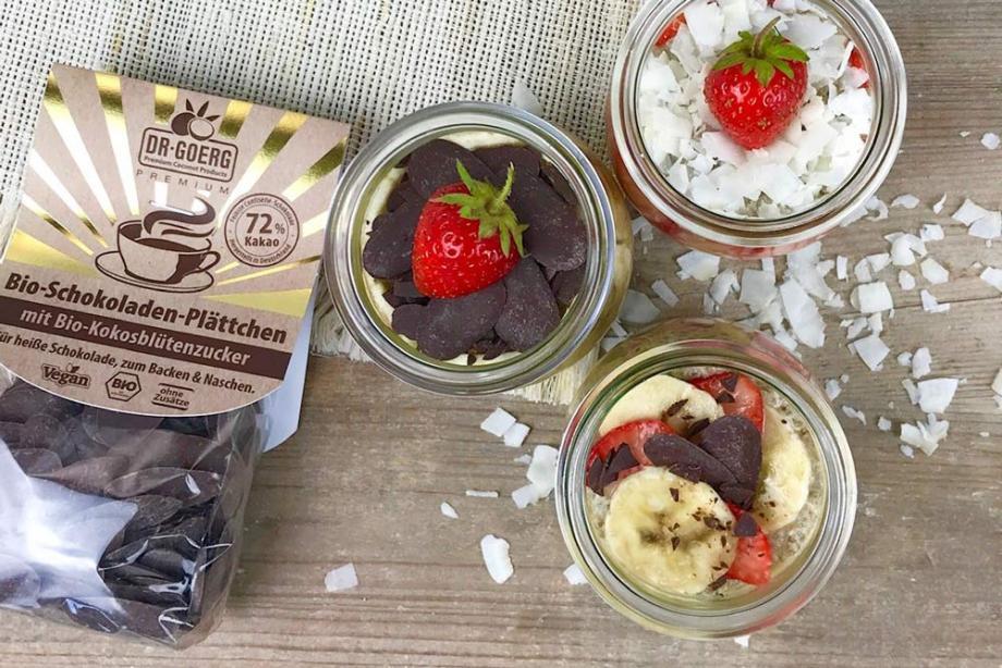 Veganer Kokos-Chia-Pudding