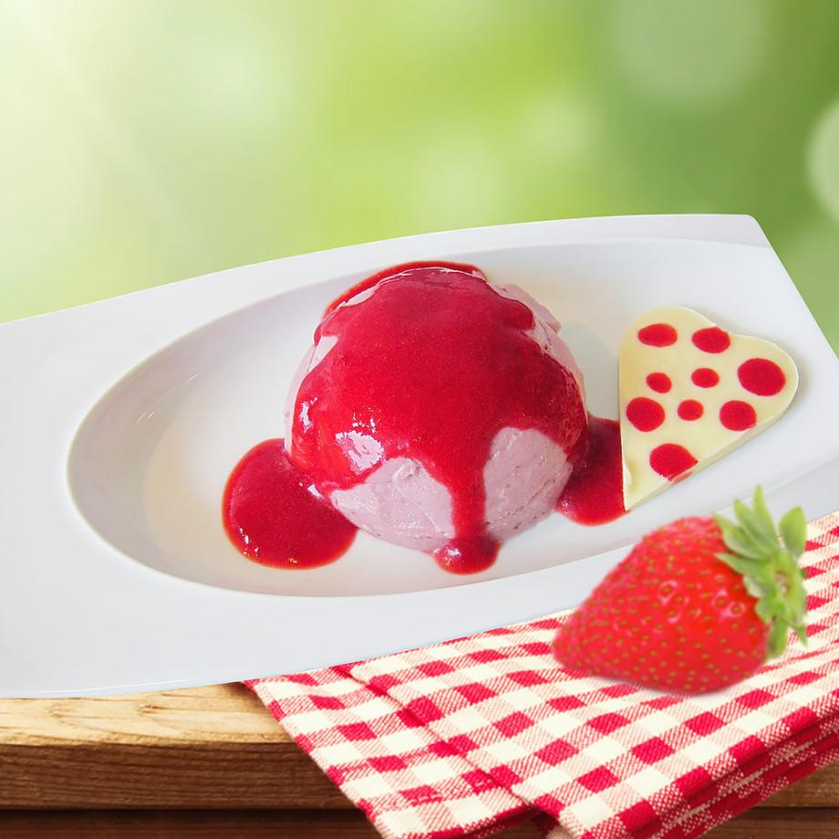 Panna Cotta mit Erdbeer-Kokosmilch