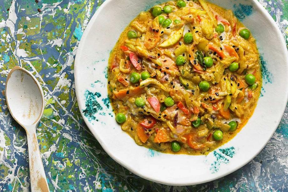 Veganes Kokos-Curry