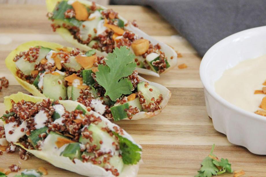Chicorée mit Quinoa-Füllung