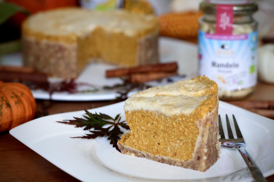 Vegan No-Bake Pumpkin-Cheesecake