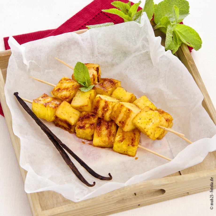 Gegrilltes Obst-Dessert