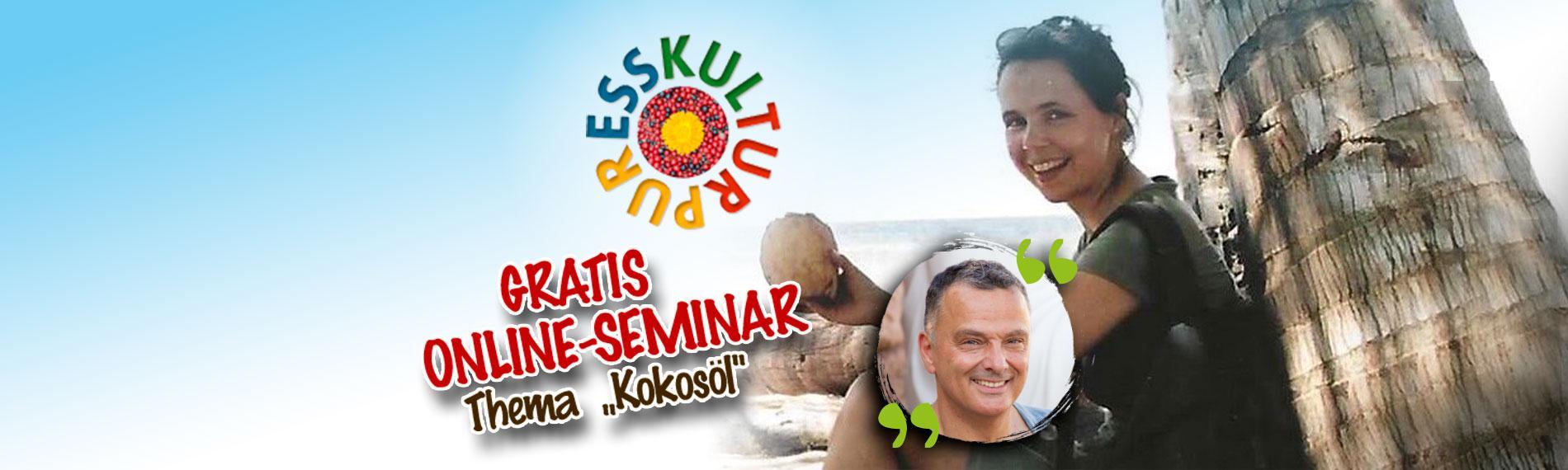 Kokosöl Online-Seminar mit Natur-Heilpraktikerin Anne Lohmann & Kokosöl-Experte Manfred Görg