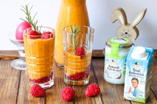 Chia-Kokos-Karotten-Smoothie