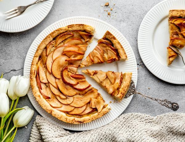 Veganer Apfelkuchen mit Kokosöl