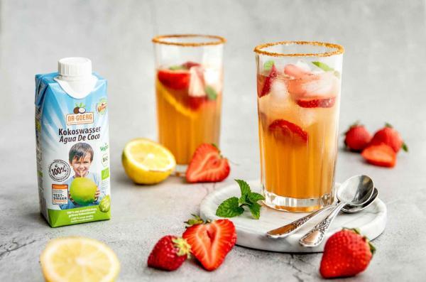 Erdbeer-Gin-Sundowner
