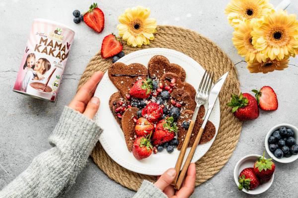 Herz-Pancakes für Muttertag