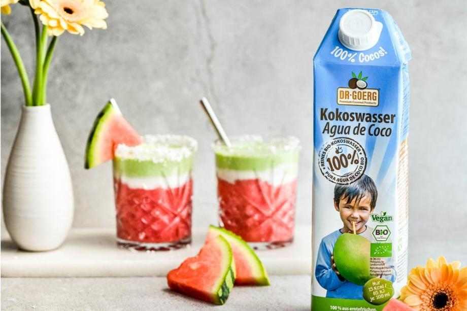 Melonen-Smoothie mit Kokoswasser