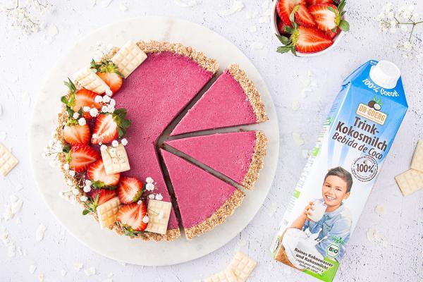 Erdbeer-Tarte mit weißer Schokolade