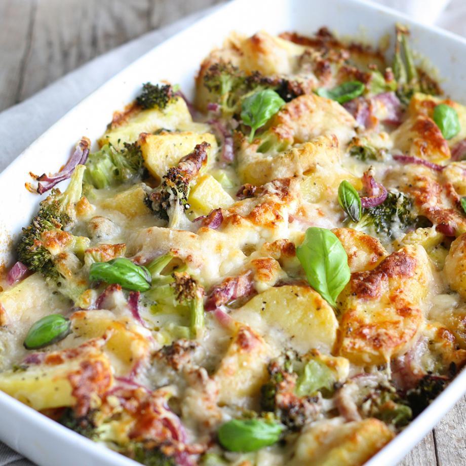 Kartoffel-Gemüse-Auflauf mit Kokosmilch