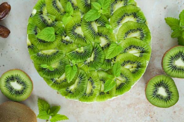 Vegane Kokos-Kiwi-Tarte