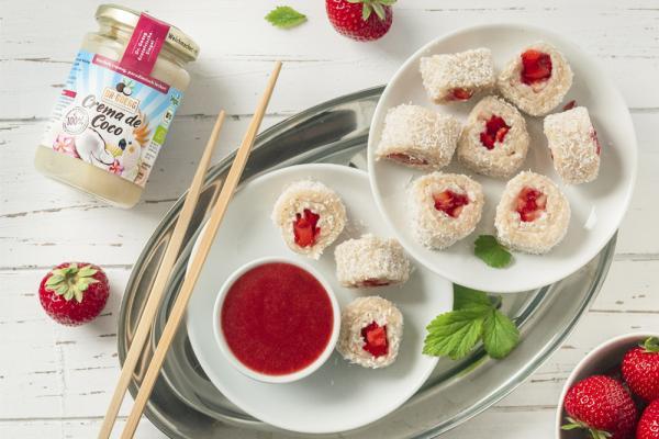 Süßes  Milchreis-Sushi mit Crema de Coco