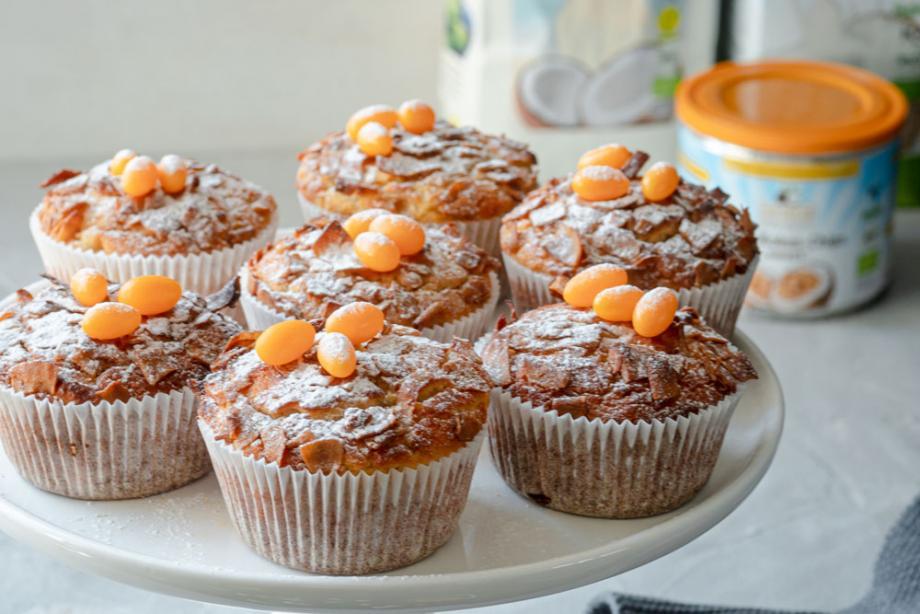 Vanille-Muffins mit Kokos-Chips
