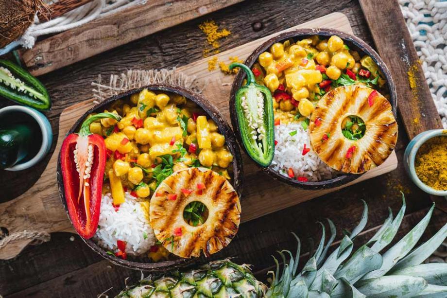Veganes Ananas Curry