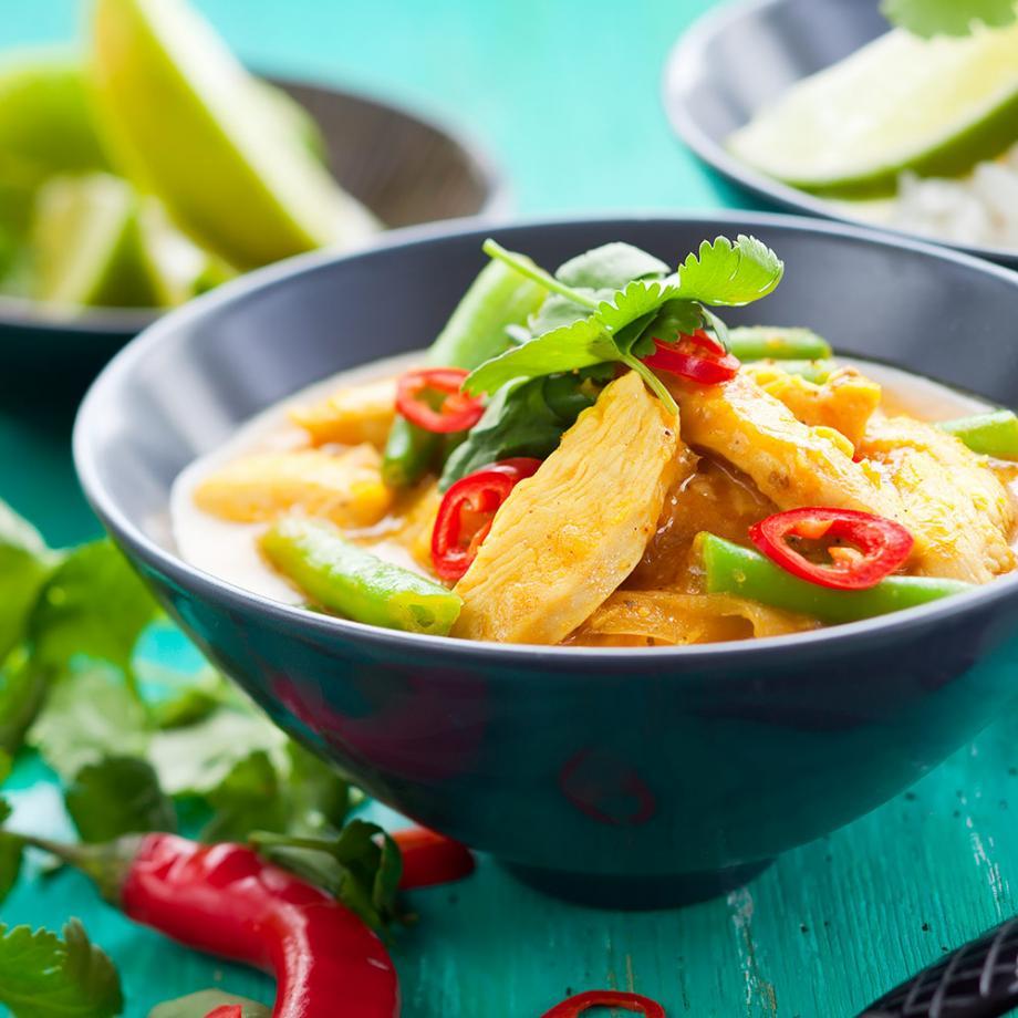 Thaicurry mit Hähnchenbrustfilet