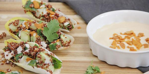 Endibias rellenas de quinoa