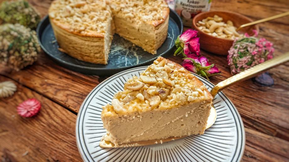 Lowcarb Kokos-Haselnuss-Cheesecake