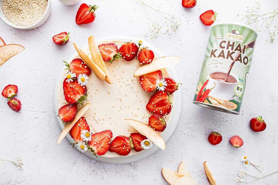 Erdbeer-Apfelkuchen mit Vanillecreme