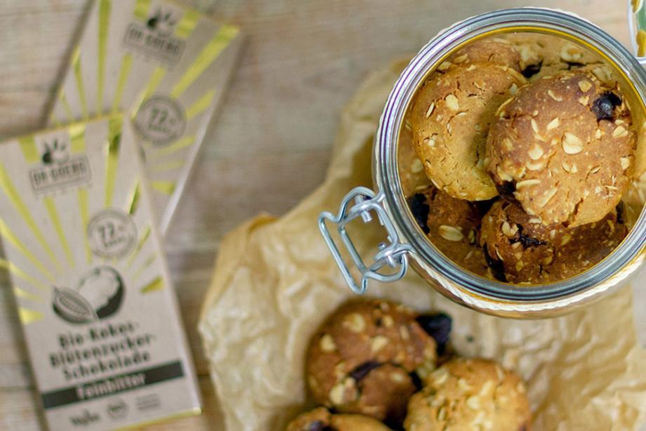 Schoko-Haferflocken Cookies