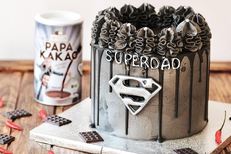Superdad-Torte mit Haselnuss-Schokocreme