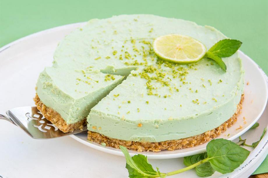 Roher Limetten-Kokos-Kuchen