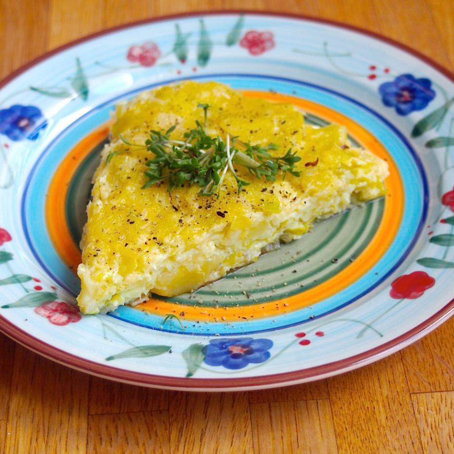 Kartoffel-Lauch-Fritatta