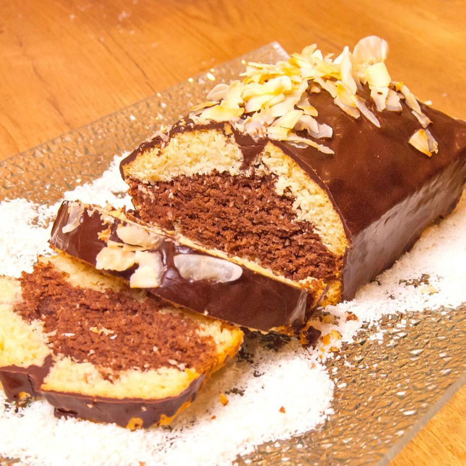 Marmorkuchen mit Kokos