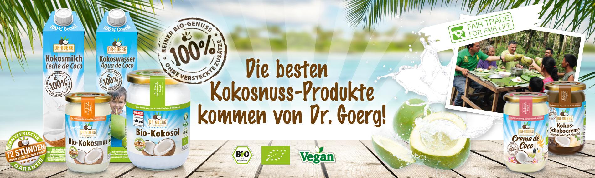 Die besten Kokosnuss-Produkte kommen von Dr.Goerg!