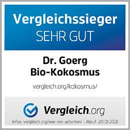 Vergleichssieger Sehr Gut Dr. Goerg Bio-Kokkosmus