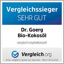 Vergleichssieger Sehr Gut Dr. Goerg Bio-Kokkosöl
