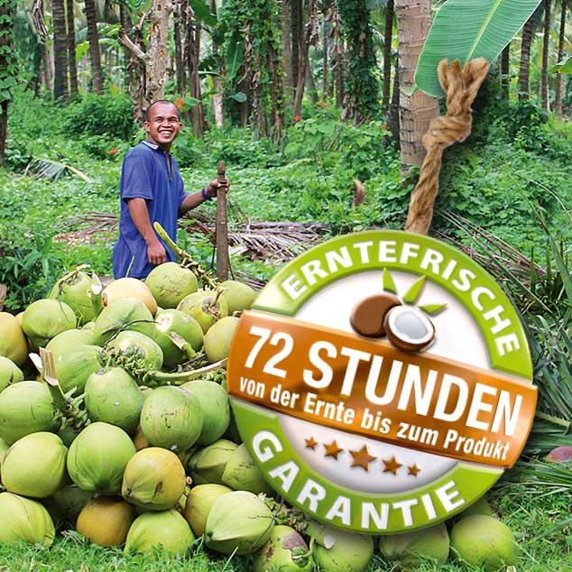 72 Std. Erntefrische-Garantie, schonende Ernte